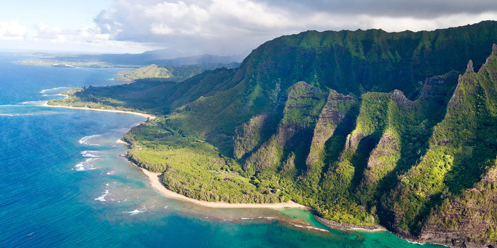 aerial view of kauai